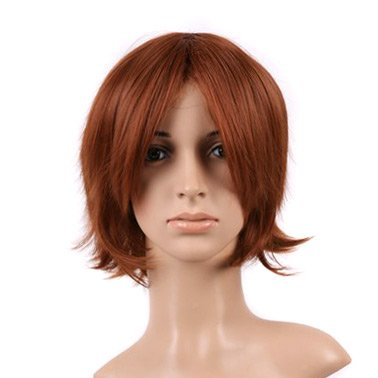 Red Brown Short Cut Anime Costume Cosplay Wig