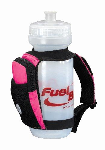 FuelBelt FuelBelt Sahara 22-Ounce Palm Holder with Pocket, Hibiscus Pink