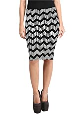 Mayra Women's Cotton Stretch Pencil Skirt(1602B11298_XL Black )