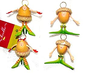 Department 56 Krinkles ** Acorn Placecard Holder, Set of 4 ** 38196