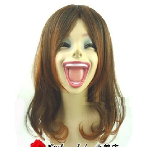 Female women Head Mannequin Hat Helmet Cap wig display 44cm height Laughing face big mouth