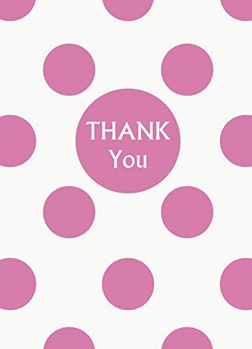 Pink Polka Dot Thank You Notes, 8ct