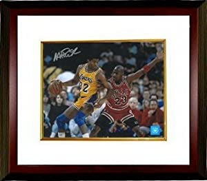 Magic Johnson Autographed Hand Signed Los Angeles Lakers 8X10 Photo vs Jordan Custom...