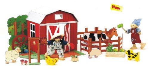 Voila Farm Fun Activity Doll Set with 2 Poseable Figures