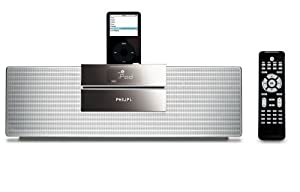 Philips Executive 30-Watt Micro Speaker System with iPod Dock (Black/Silver)