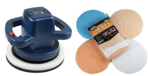 Kent Hi Power Car Surface Polisher & 8 Piece Clean, Buff, Polish Polisher Pad Set for Car Polisher!! GREAT BARGIN GIFT KIT.