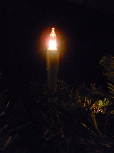 LED Lichterkette 7 m mit 50 Kerzen warmweiß für Christbaum, Weihnachtsbaum, Weihnachten