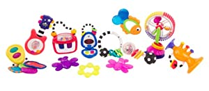 Sassy Sounds and Lights Development Toy Gift Set, 12 Piece