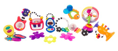 Sassy Sounds and Lights Development Toy Gift Set, 12 Piece - 1