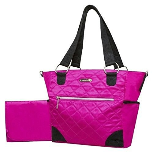 Wendy Bellissimo Quilted Tote Diaper Bag - Fuschia - 1