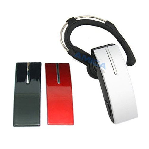 Bluetooth Headset For All Sony Ericsson Phones With 3 Changeable Face Plates Black, Red And Silver.