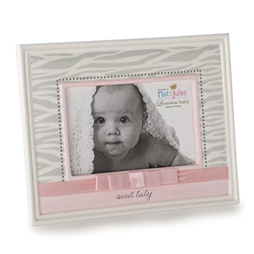 Nat and Jules Sweet Baby Zebra Frame, Pink
