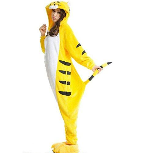 LATH.Pin Giallo Tigre Kigurumi pigiama adulto Anime Cosplay Halloween Costume Taglia M