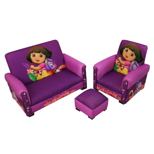 Pleasing Nickelodeon Dora Hiking Deluxe Toddler Sofa Chair And Machost Co Dining Chair Design Ideas Machostcouk
