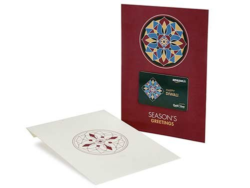 Amazon.in Gift Card - Festive Greetings Card (Purple, Rs. 5000)