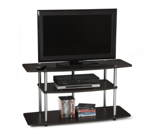 Convenience Concepts Designs-2-Go Wide 3-Tier TV Stand, Dark Espresso