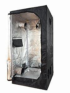 NEW 60X60X140CM Grow Tent Bud Dark Green Room Garden Hydroponics Box Mylar Silver by 84115