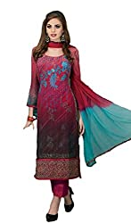 Bhavya Collection Women's Cotton Unstiched Dress material (bg_01_Red)
