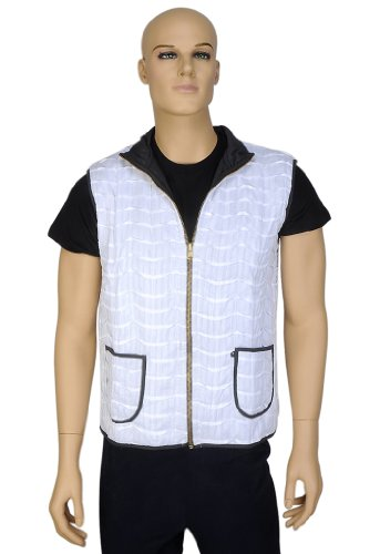 Designer Indian Fabulous Look Light Weight Cotton Mens Short Quilted Jacket Size XXL