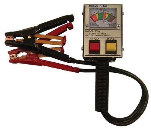 Associated Equipment 6024 12/24V 125 Amp Hand Held Analog Battery Tester