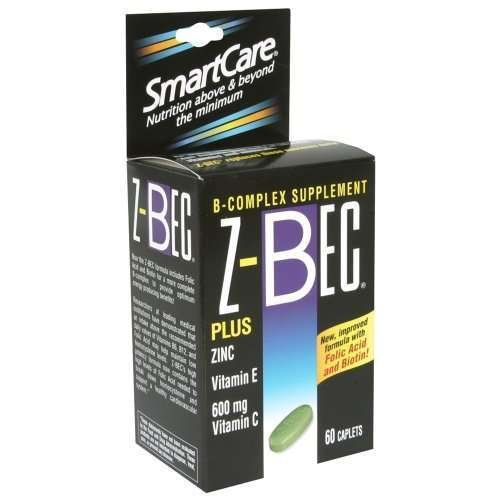 Z-Bec Smart Care B-Complex Supplement, Caplets, 60 ct. (Pack of 2) (Bec Inc compare prices)