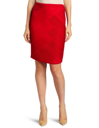 Catherine Malandrino Women's Ruched Pencil Skirt