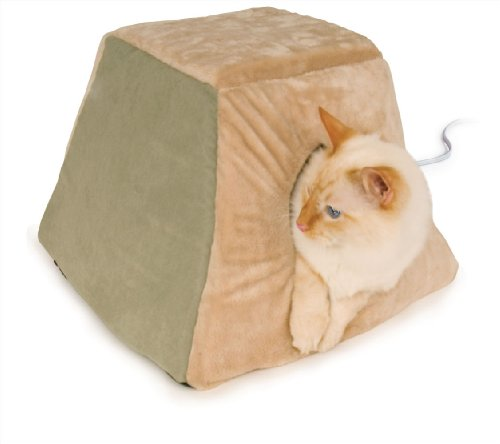 K&H Thermo-Kitty Cabin, Sage  Cat Furniture