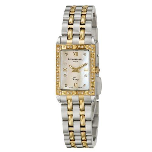 Raymond Weil Women's 5971-SPS-00995 Tango Rectangular Two-Tone 40 Diamonds Watch