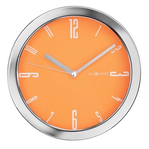 DecoMates Non-Ticking Silent Wall Clock - Vivid (Orange)