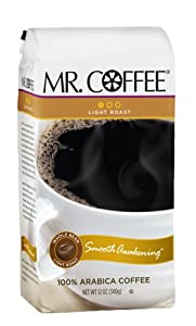 Mr. Coffee Smooth Awakening, Whole Bean Coffee, 12-Ounce Bags (Pack of 6)