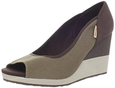 Teva Women's Mush Promenade Wedge Sandal,Lead Gray,7 M US