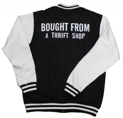 21 Century Clothing Unisex-Adult Bought From A Thrift Shop Varsity Jacket Large (44 Inches) Black
