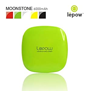 Lepow Moonstone Portable External Battery Pack and Travel Charger 6000 mAh - Compatible with Apple iPhone, Apple iPad, S