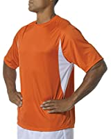 A4 Men's Cooling Performance Color Block Short Sleeve Crew Tee