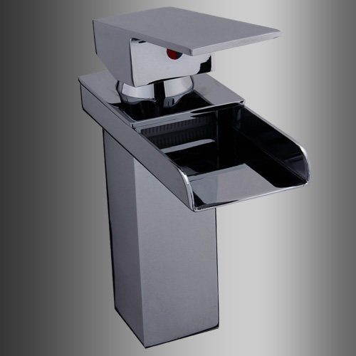 Cascade Waterfall Chrome Bathroom Sink Basin Mixer Tap