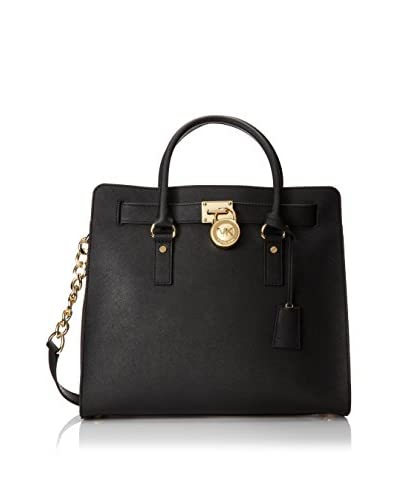 MICHAEL Michael Kors Women's Hamilton Large North/South Tote-Black, One Size