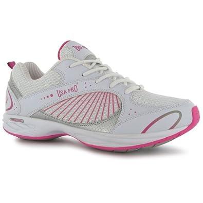 USA Pro Tone Shine Ladies trainers[4,White/Pink]
