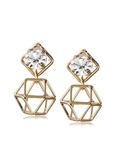 Daniela Swaebe 18K Gold-Plated Origami SW Crystal Earrings As You See
