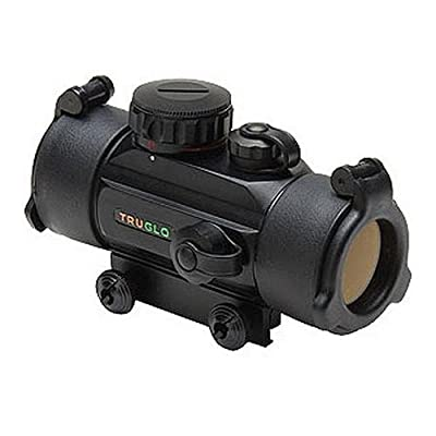 TRUGLO Traditional Red-Dot 1x30mm Sight with 5-MOA Dual-Color Dot Reticle from TruGlo