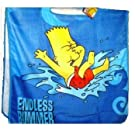 Childrens/Kids Official The Simpsons Bart Towcho/Poncho 100% cotton towel