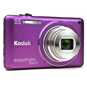 Kodak Easyshare Touch M5370 16 MP Digital Camera with 5x Optical Zoom, HD Video Capture and 3.0-Inch Capacitive Touchscreen LCD (Purple) (Kodak C195 Digital Camera compare prices)