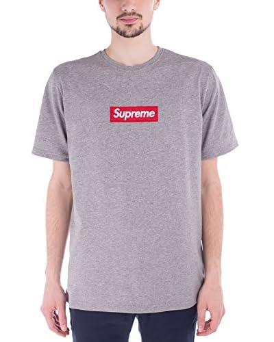 Supreme Italia Camiseta Manga Corta SUTS1104 Gris Jaspeado