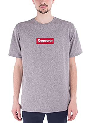 Supreme Italia Camiseta Manga Corta SUTS1104 (Gris Jaspeado)