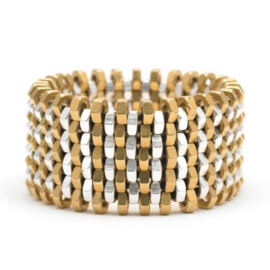 Mixed Metal Nut Bracelet by Alice Menter||RF10F
