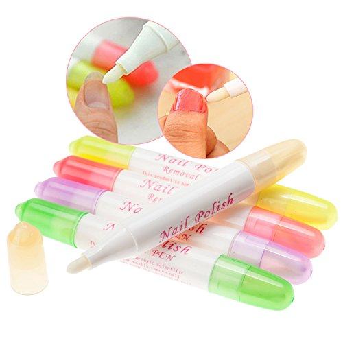 5-Nail-Art-Refillable-Polish-Varnish-Removers-Corrector-Correction-Pens-By-VAGA