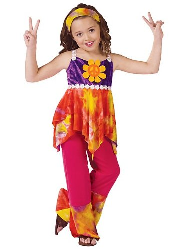 Fun World Peace and Love Retro Hippie Kids Costume - Medium