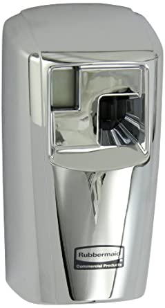 "Rubbermaid Commercial FG401278 Microburst 3000 Aerosol Odor Control LCD Dispenser, Chrome, 3.25"" Width x 6.63"" Height"