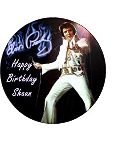 75 Elvis Presley Personalised Edible Icing Cake Topper Use The Greeting Section On Checkout