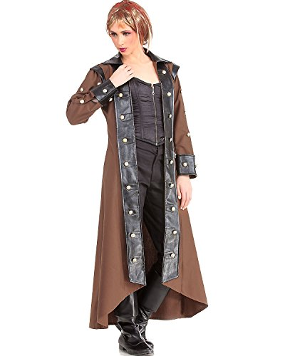 Lieutenant Estfeld Steampunk Victorian Gothic Womens Costume Trench Coat