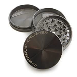 Chromium Crusher Zinc 2.5'' 4pc Tobacco Spice Herb Grinder with Lifetime Warranty by Chromium Crusher